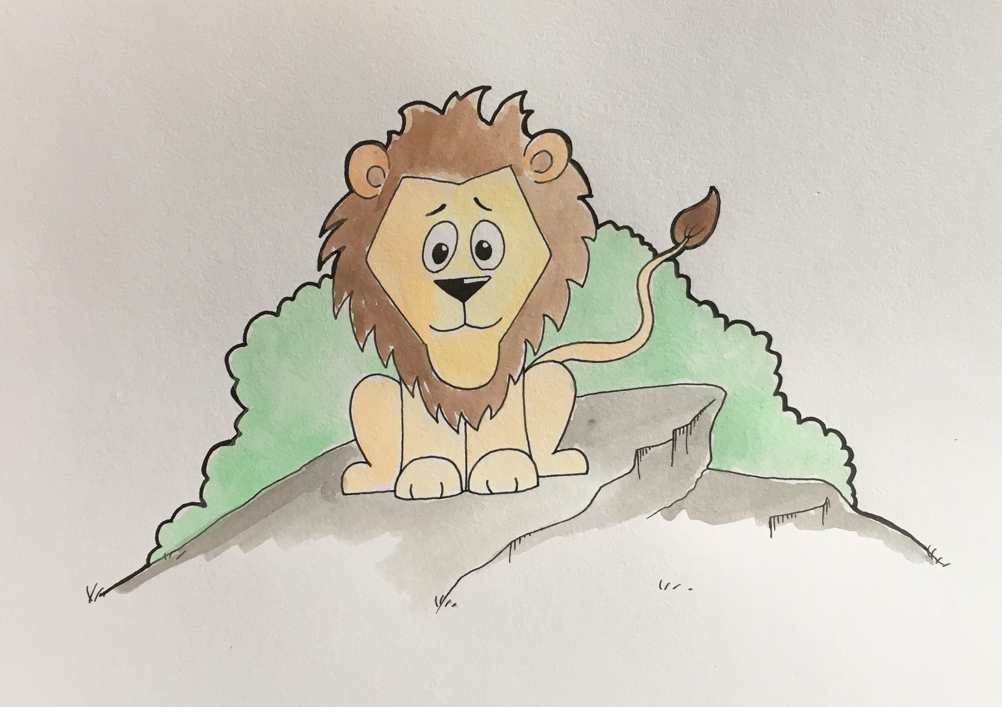 Lær at tegne en løve