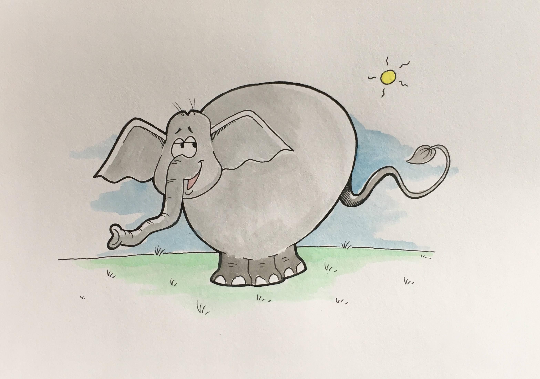 Lær at tegne en elefant