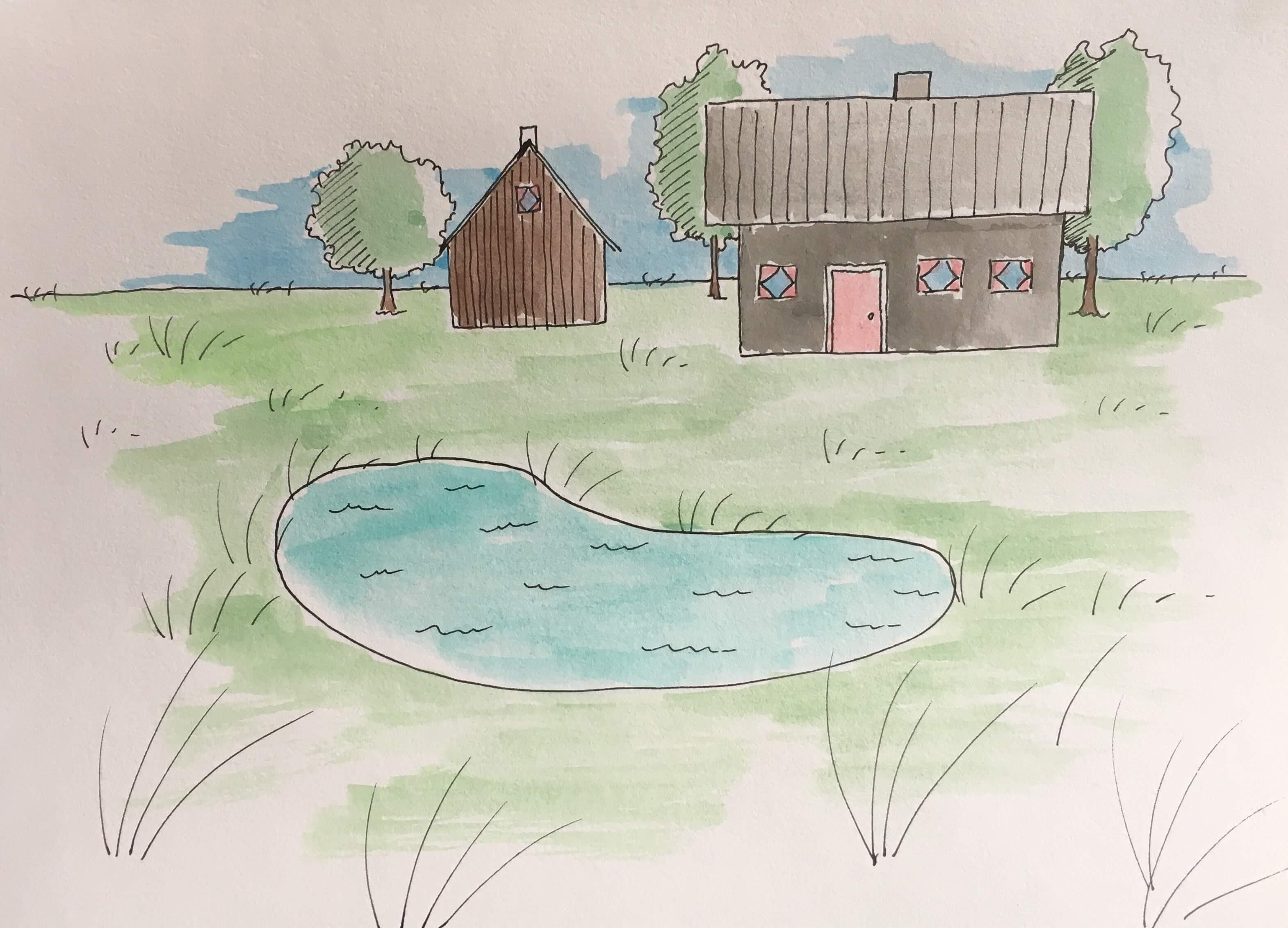 Lær at tegne en have