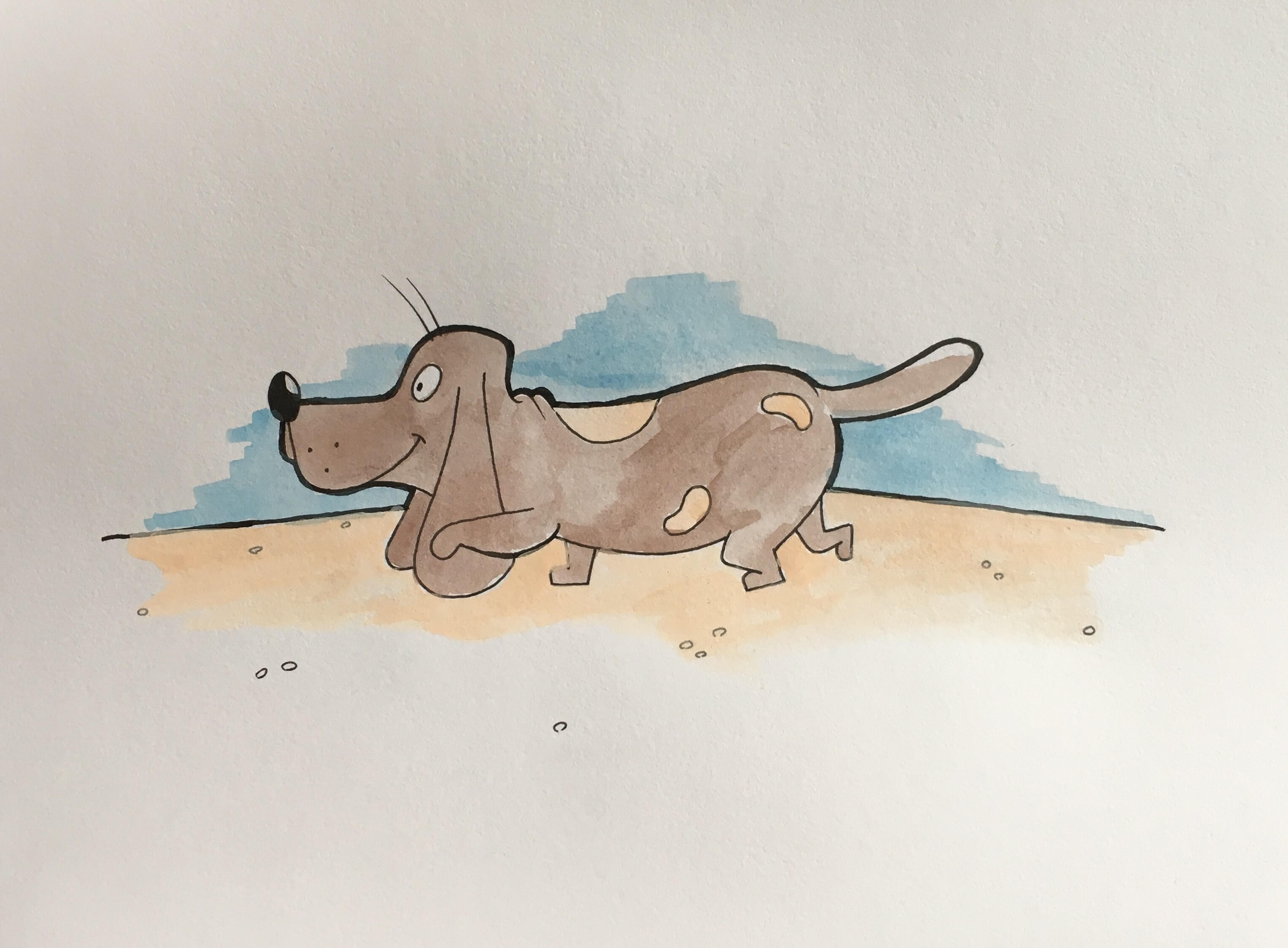 Lær at tegne en hund