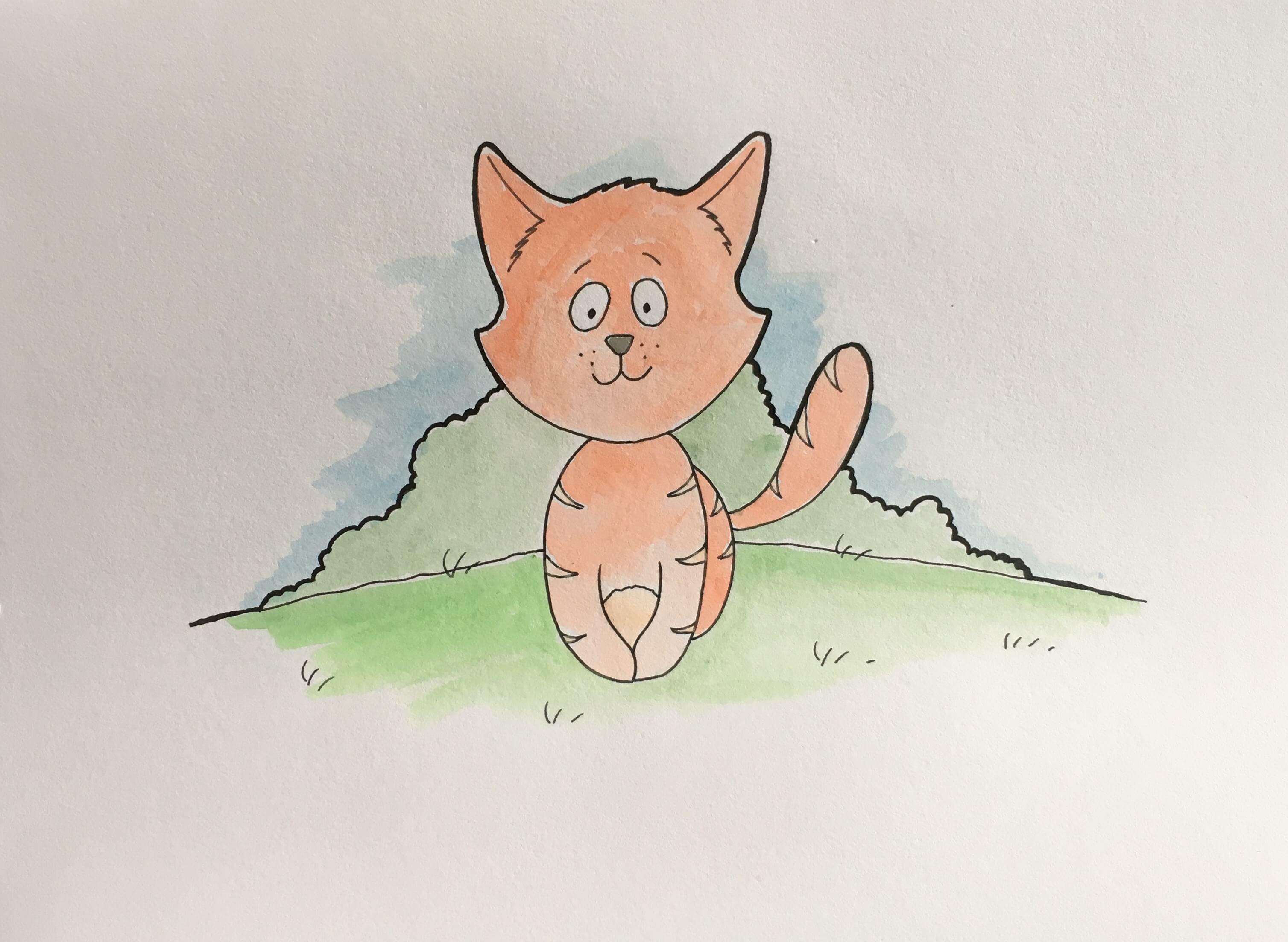 Lær at tegne en kat