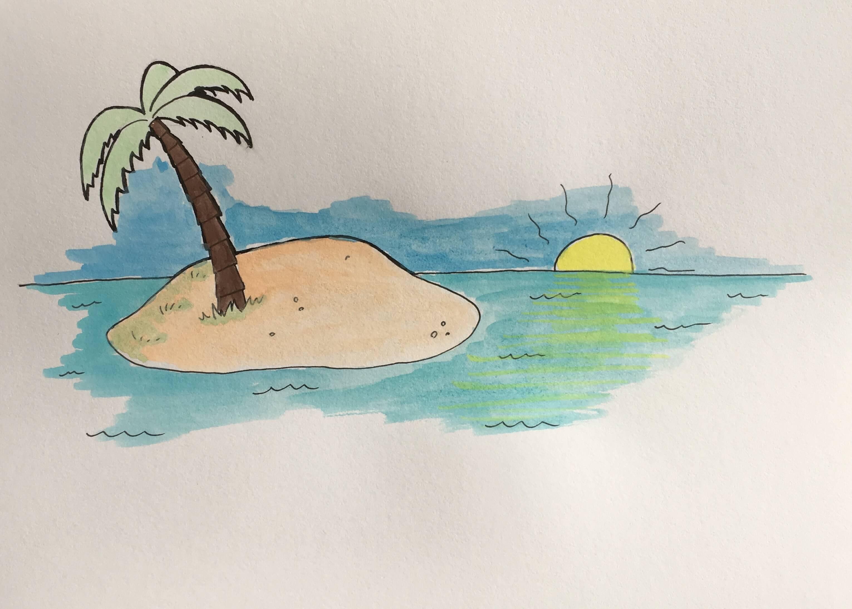 Lær at tegne en palmeø