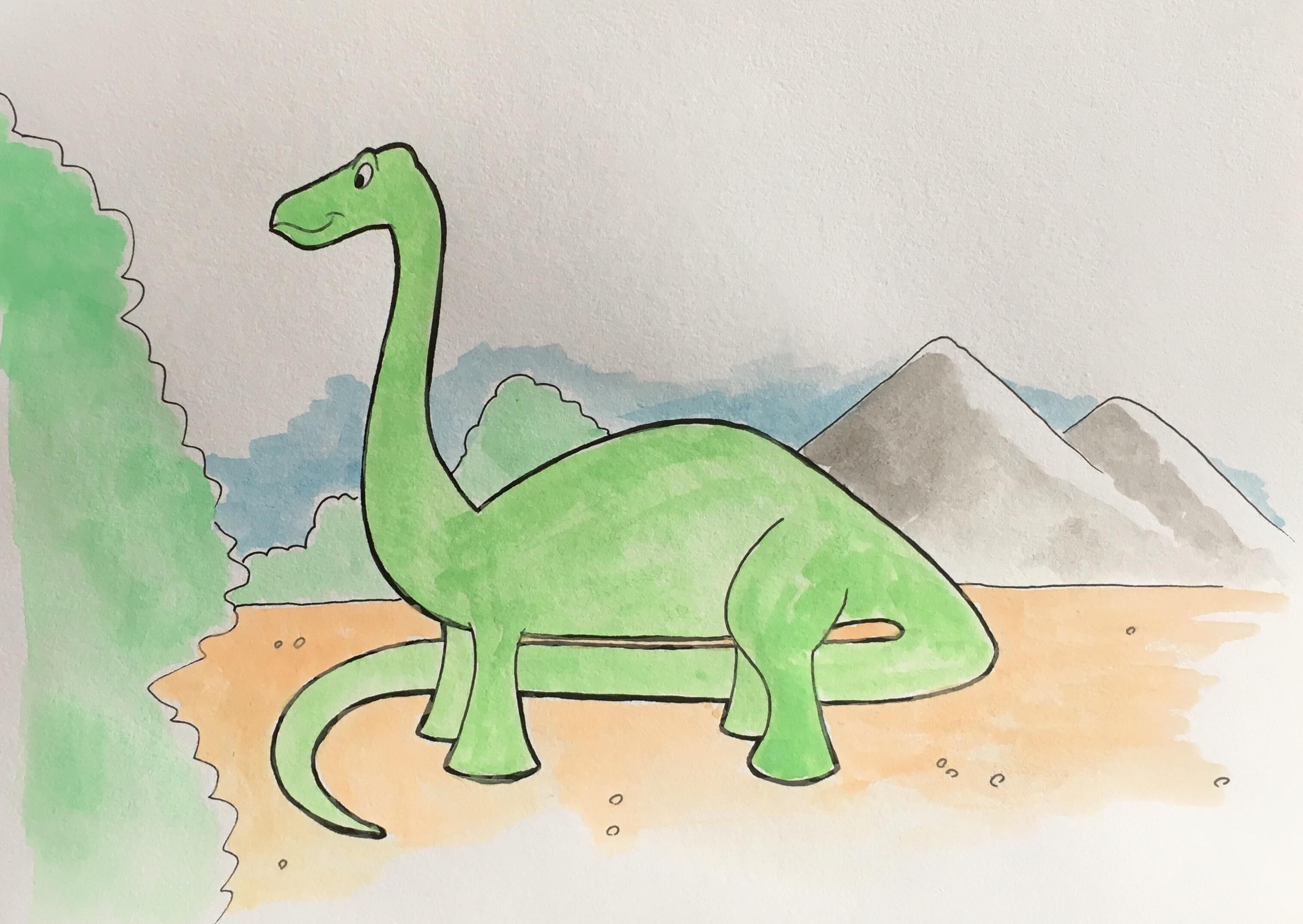 Lær at tegne en dinosaur