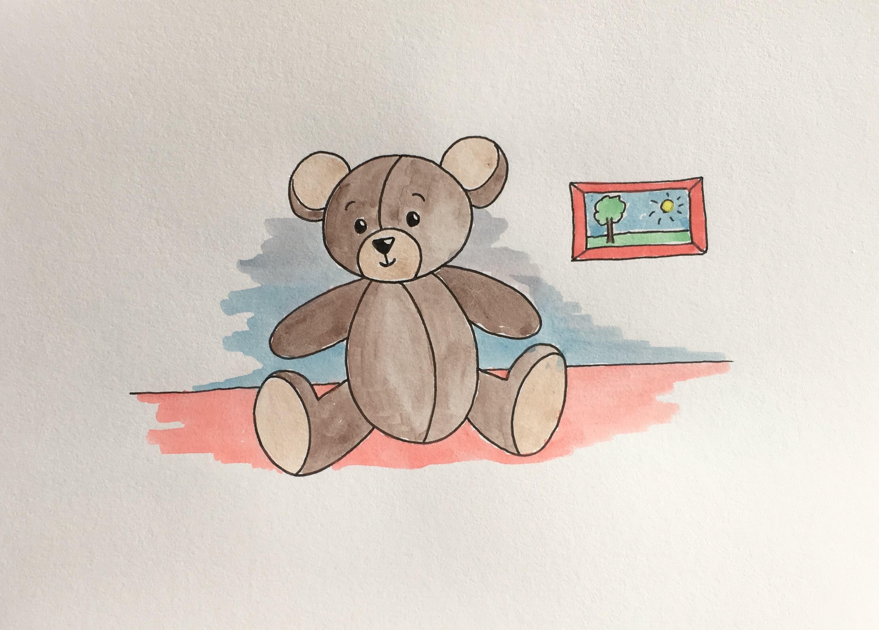 Lær at tegne en bamse