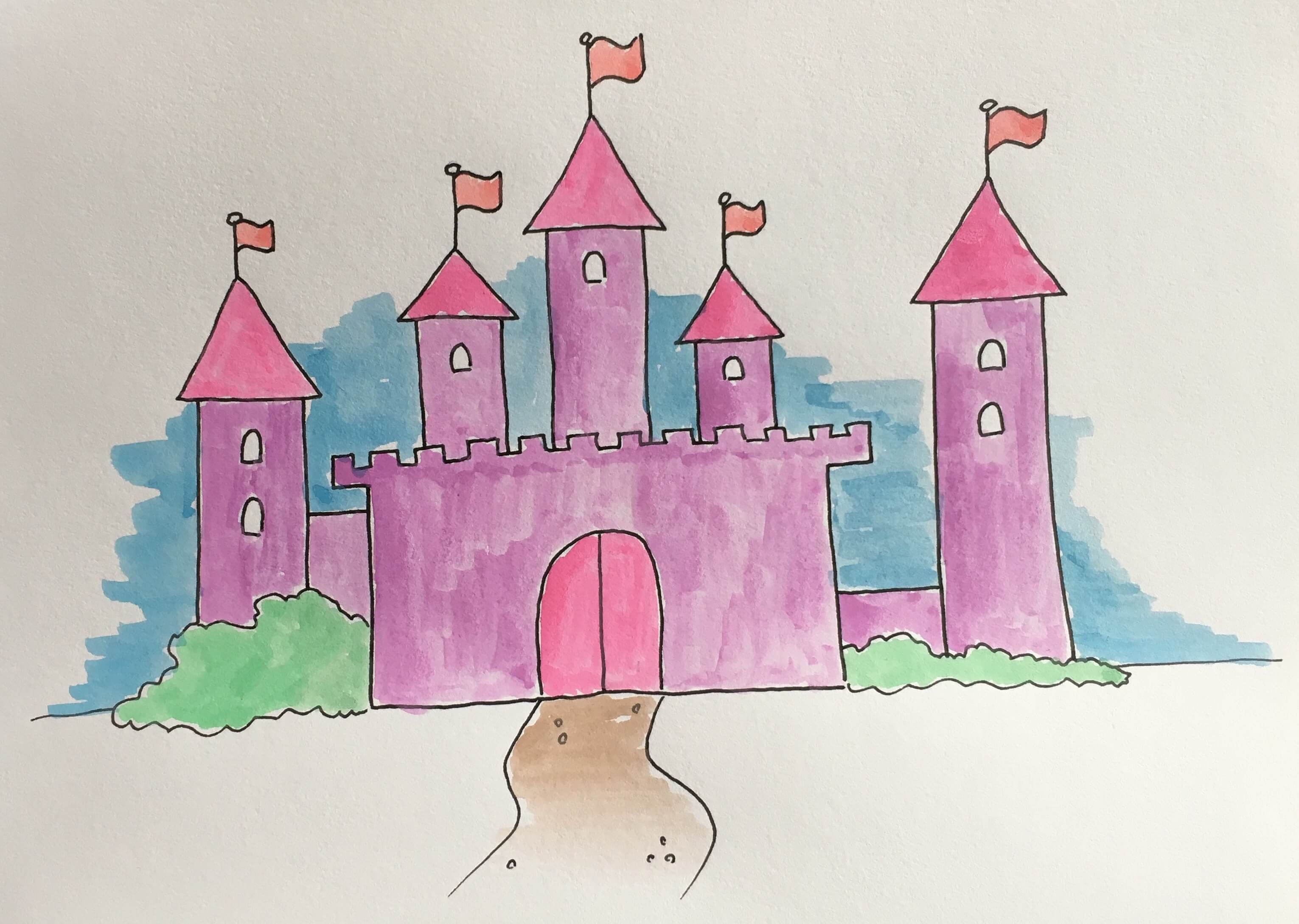 Lær at tegne et prinsesseslot