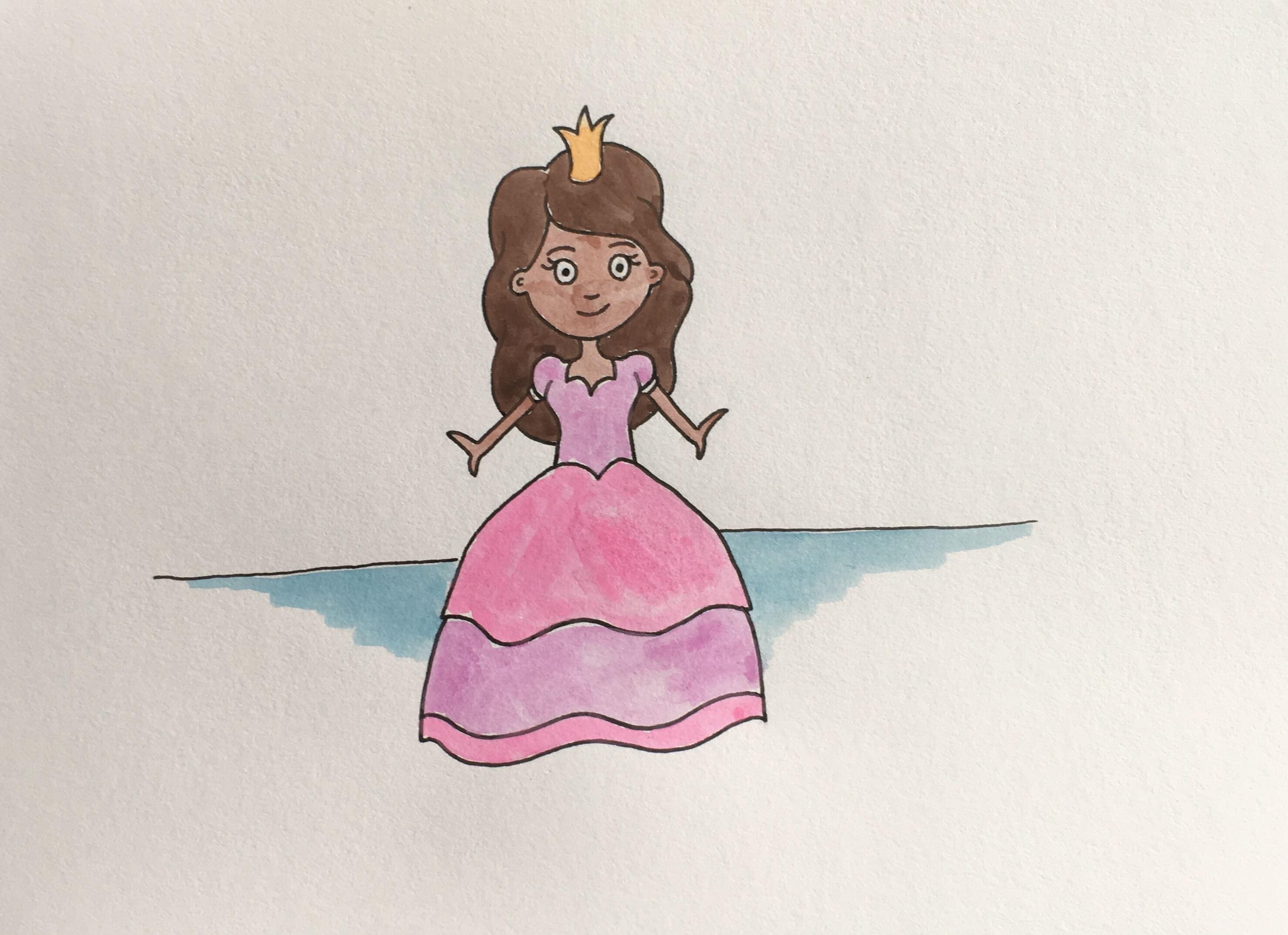 Lær at tegne en prinsesse