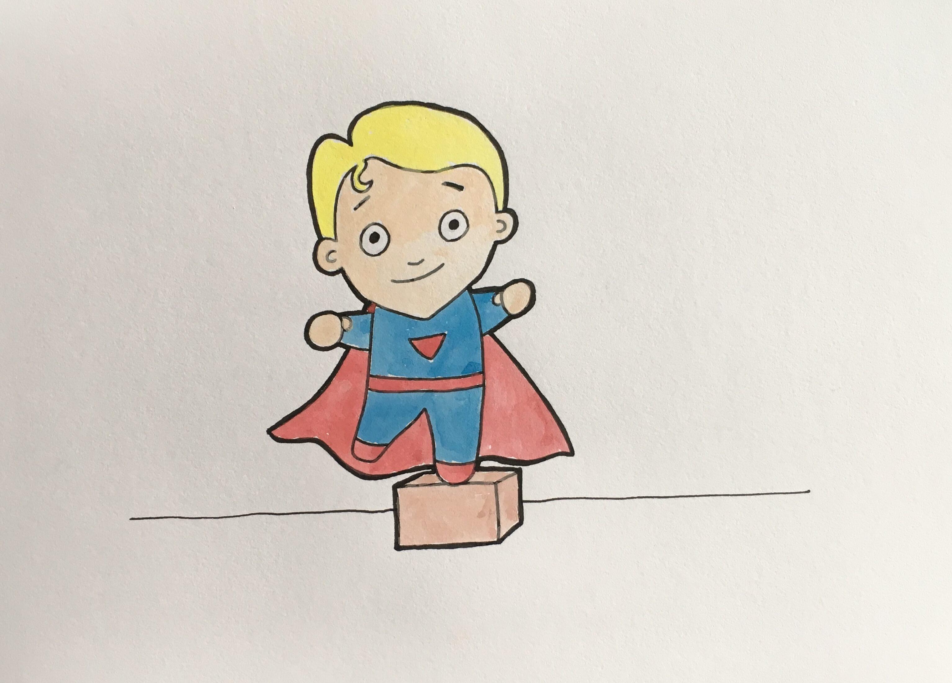 Lær at tegne en superhelt